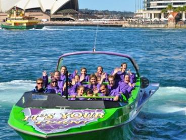 Jet Boat Ride for One ($49), Two ($96) or Four People ($189) with Down Under Jet, Sydney Harbour