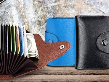 Keep Your Cards Organised with This Genuine Leather Card Holder!  Holds Up To 13 Cards Plus it Includes Two Extra Big Slots. Only $15 with Delivery Included