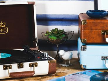 Portable Record Players, Bluetooth Speakers, Record Cases + More