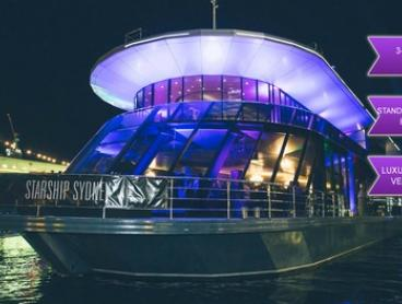 $99 for a Three-Hour Opening Night Vivid Cruise Cocktail Party with Standing Buffet with Starship Sydney