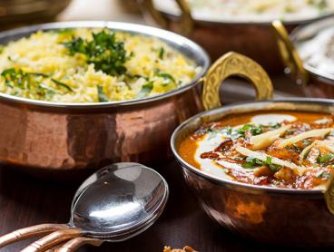 Authentic Indian Lunch or Dinner with a Glass of Red or White Wine Each - Just $29 for Two People or $55 for Four People (Valued Up To $179.80)