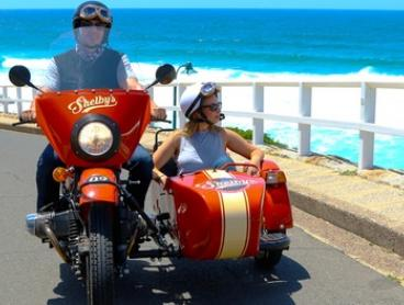 From $134 for a 90-Minute VIVID Motorcycle Sidecar Experience with Shelby's Sidecar Motorcycle (From $179 Value)