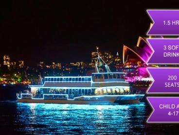 $18 for a 90-Minute Kid's Vivid Festival Cruise + Three Soft Drinks with Good Time Harbour Cruises (up to $50 Value)
