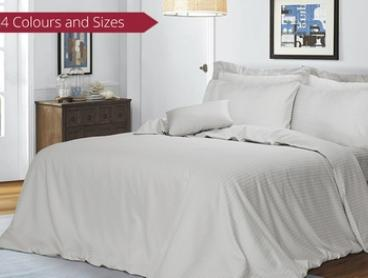 1000TC Cotton Six-Piece Cotton Sheet and Quilt Cover Bedding Set: Queen ($79) or King ($89)