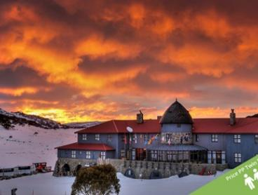 Charlotte Pass: From $459 Per Person for Ski Package with Lift Pass, Breakfast and Dinner at Kosciusko Chalet Hotel