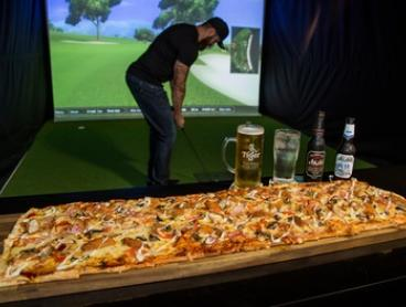 Virtual Golf with Pizza for 2 ($39), 4 ($59) or 8 ($119) at Slice Virtual Golf Surfers Paradise (Up to $198.50 Value)