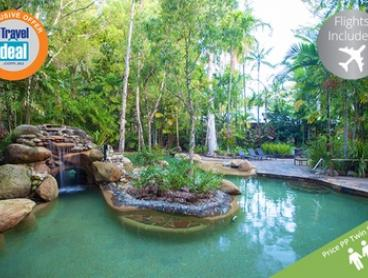 Cairns: Three- or Five-Night Romantic Getaway with Tropical Breakfast and Welcome Drinks at Kewarra Beach Resort and Spa