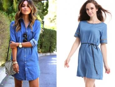 Round Neck or Shirt Denim Dress: One ($19) or Two ($29)