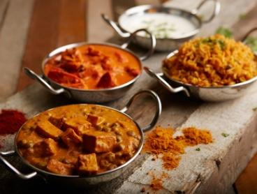 Three-Course Indian Meal for Two ($29) or Four People ($55) at Curry Box (Up to $151.80 Value)
