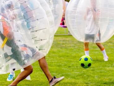 One Hour of Bubble Soccer for Up To 12 People is $129. Includes All Equipment! (Value $420)