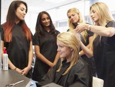 Perm ($29) or Keratin Treatment ($65) with a Style Cut or Trim at Creative Edge Training (Up to $172 Value)
