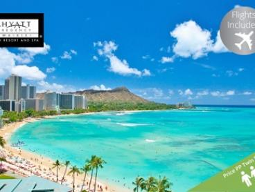 Hawaii: $1,499 Per Person for a Five-Night Escape with Flights at 4* Hyatt Regency Waikiki Beach Resort and Spa