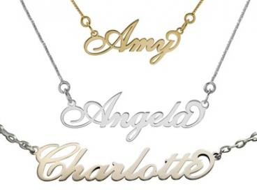 Carrie Style Name Necklace: Stainless Steel ($24), Sterling Silver ($29) or Gold-Plated ($39) (Don't Pay up to $139)