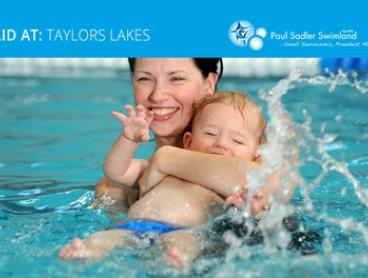6 Swimming Lessons for Infant ($0), 1 ($45), 2 ($90), 3 ($135) or 4 ($180) People, Taylors Lakes (Up to $549.60 Value)