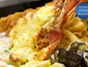 Fish and Chips for One ($49) or Red Cray Platter Two People ($175) with Wine at the Red Cray (Up to $220 Value)