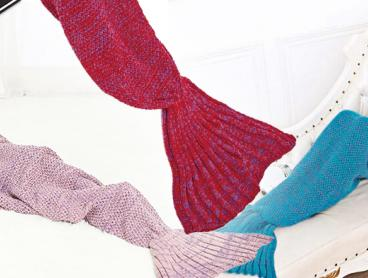 Let Your Dreams of Being a Little Mermaid Become a Reality with This Snuggly Mermaid Tail Blanket! Perfect for Sleepovers and Movie Nights. From Only $19 with Delivery Included
