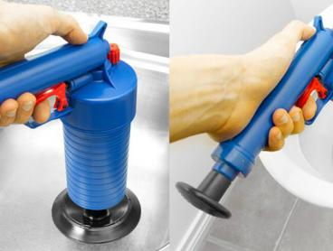 Clear Your Drains Quickly and Easily with This Drain Unblocking Air Pressure Gun! This Gun Uses High-Pressure Air to Drain Various Sized Drains and Plug Holes, Suitable for Toilets, Bathtubs, Showers, Sinks and Drains. Only $25