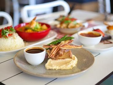 Three-Course Lunch or Dinner for Two ($69) or Four People ($138) at Jellyfish Cafe Manly (Up to $267.20 Value)