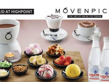 $21 for Fondue, Hot Drinks and Bottles of Water for Two People at Mövenpick Highpoint (Up to $42.85 Value)