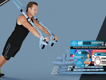 Achieve a Full Body Workout in 20 Minutes with the Guy Leech Suspension Trainer. Set It Up in Seconds at Home to Target Problem Areas. Only $12 with Delivery Included