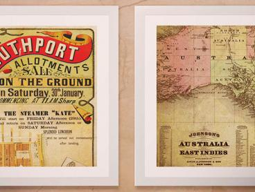 Framed Canvas Vintage Map Prints From Around the World - Just $12 for a Regular Sized Print or $20 for a Large (Valued Up To $154.64)