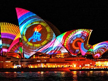 Sydney Harbour Vivid Cruise with Canapes and Drink on Arrival: $29 for a Child Ticket or $35 for an Adult Ticket (Valued Up To $79)