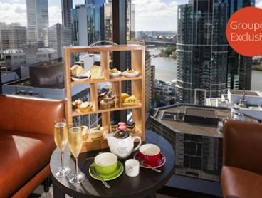 $49 for High Tea in the Sky with Sparkling Wine for Two People at Four Points by Sheraton Brisbane Dining ($98 Value)