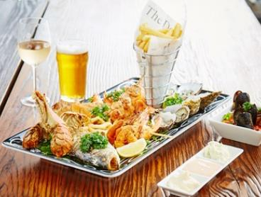 $99 for a Waterfront Seafood Platter with Wine or Beer for Two People at Hooks @ The Yarra, Docklands (Up to $161 Value)
