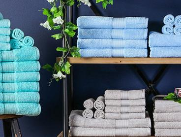 Hotel Quality Bath Linen in Fresh New Colours