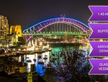 $39 or $44 for Vivid Cruise with Standing Buffet and Wine on the Sydney Glass Island (Up to $90 Value)