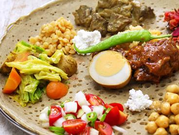 Ethiopian Dining Experience with Combination Plate, Rice, Bread and Dessert for Two, Just $45! (Value $64.50)