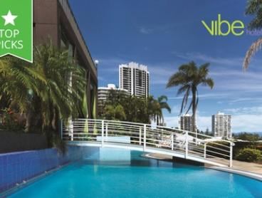 Surfers Paradise: Up to 5 Nights for Two with Breakfast, Drink Vouchers and Late Check-Out at Vibe Hotel Gold Coast