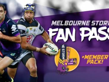 Melbourne Storm Fan Pass - Membership Package + Game Access (Up to $120 Value)