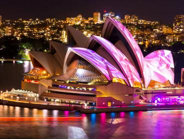 Vivid Festival Harbour Cruise with Canapes and Glass of Sparkling: $42 for Wednesday Night Cruises or $52 for Friday to Sunday Night Cruises (Value $110)