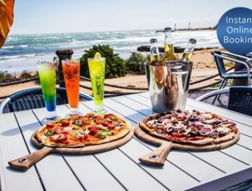 Italian Dinner with Wine or Beer for Two ($39) or Four People ($75) at Shelly's Beach Pavilion (Up to $184 Value)