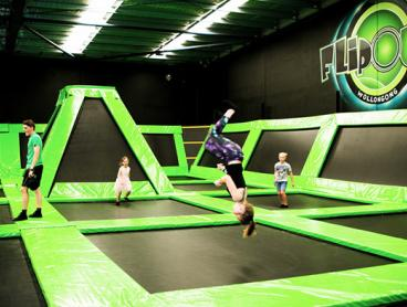 Enjoy Two Hours of Indoor Trampolining at Flip Out! Just $13 for One Person, $25 for Two People, or $49 for Four People (Valued Up To $104)