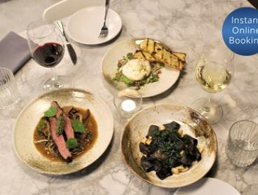 Chef's Menu Italian Dinner with Wine for Two ($89) or Four People ($175) at Allegra Dining (Up to $312 Value)