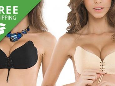 Free Shipping: Front-Lacing Adhesive Bra: Two- ($19) or Four-Pack ($29)