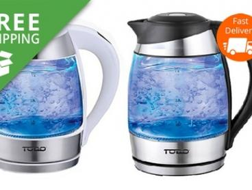 Free Shipping: $39.95 for a TODO 1.8L Temperature Control LED Glass Kettle (Don't Pay $169)