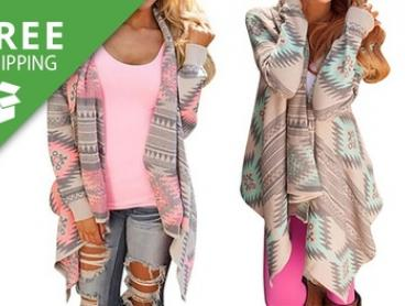 Free Shipping: Aztec Runway Cardigan: One ($19) or Two ($29)