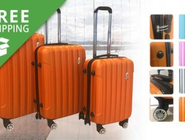 Free Shipping: $119 for a Three-Piece TODO Lightweight ABS Hard Shell Luggage Set (Don't Pay $399)