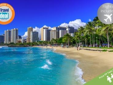 Hawaii: From $1490 Per Person for 7-Night Getaway with Flights and Late Check-Out at Ala Moana Hotel by Mantra