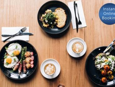All-Day Breakfast or Lunch with Wine: Two ($29) or Four People ($57) at Caffe La Via (Up to $134 Value)