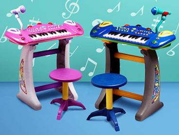 Encourage Young Beethovens with an Electronic Keyboard Featuring 37 Keys with Record and Playback Functions. Only $39