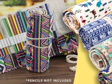 Organise Your Crafts Collection with This Roll Up Canvas Pencil Case! This Conveniently Helps You To Save Space and Keep Things Well Organised. Only $9 for a 36 Space Case, or 72 Spaces for $16