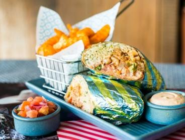 Burrito with Mexicrinkle Chips for One ($9), Two ($18) or Four ($27) at Salsas Fresh Mex Robina (Up to $49.35 Value)
