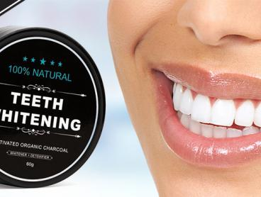 Polish Your Pearly Whites with This Teeth Whitening Powder! Made with 100% Natural Activated Coconut Shell Charcoal. Only $15 for One or $25 for Two with Delivery Included