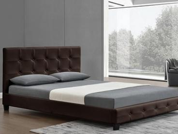 Province Studded PU Leather Bed: Queen ($229) or King ($269)