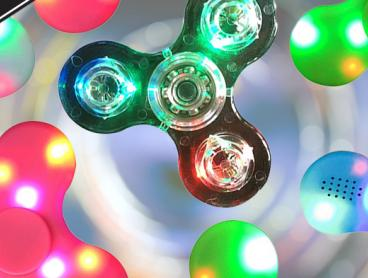 Put Your Fidgeting Fingers to Work with This LED Fidget Spinner With Bluetooth Speaker! An Amazing Twist on This Must-Have Gadget for All Ages. Only $12 with Delivery Included