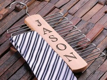 Personalised Tie Hanger: One ($15.95), Two ($24.95) or Three ($32.95) (Don't Pay up to $112.71)